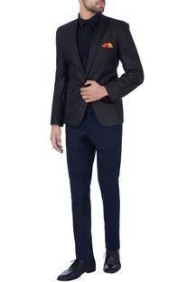 Grey notch cut collar jacket