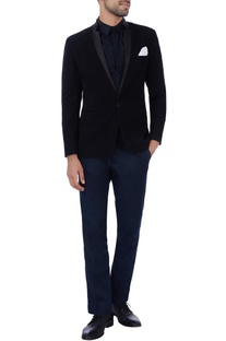 Black pocket square jacket