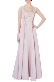 Light pink crepe gown