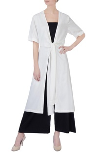 White row knot kimono jacket