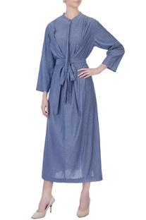 Blue knot summer dress