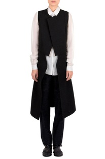 Black textured layered jacket