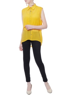 Yellow aline gerogette top