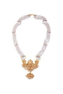 Gold kundan princess necklace