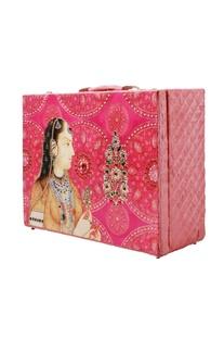 Pink printed bridal trunk