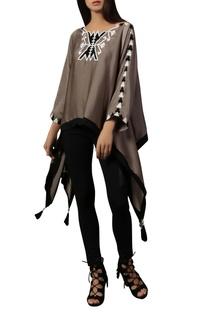 Black & white kimono top