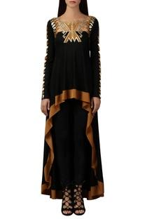 Black asymmetric style top