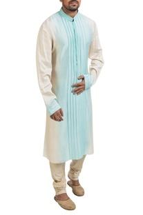 Blue & white ombre kurta set