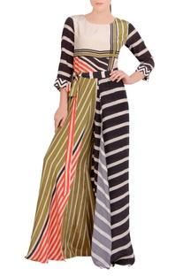 Multicolored geometric printed jumpsuit