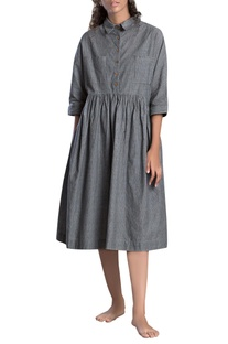 Grey drop down waist dress