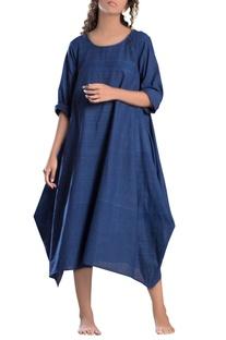 Blue cowl style dress