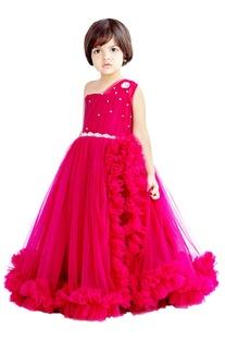 Dark pink embellished gown