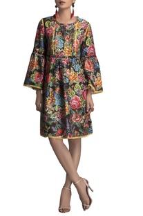 Multicolored chanderi printed tunic