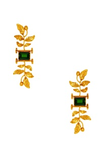 Suhani Pittie tribal leaf earrings