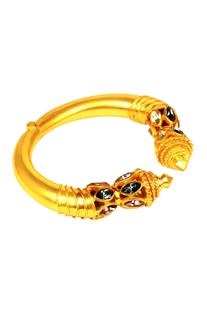 Gold plated swarovski ritual bangle