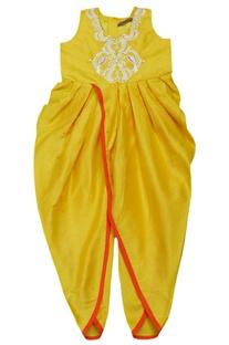 Marigold embroidered dhoti jumpsuit