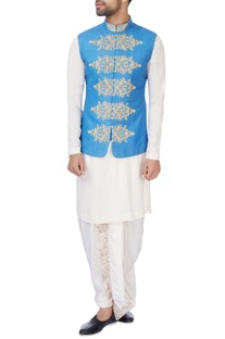 Blue embroidered jacket