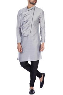 Grey modal cotton draped kurta
