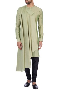 Olive modal cotton draped kurta