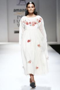 Ivory floral midi dress & inner