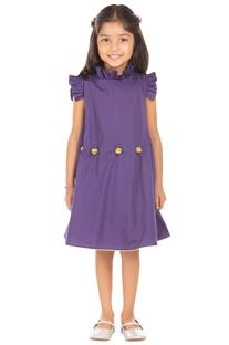 Purple ruffle style dress