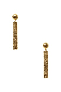 Gold plated hand-crafted earrings