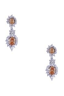 Silver mixed metal western earrings
