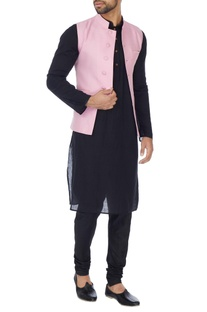 Pink cotton silk bundhi jacket