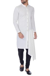 Ivory draped style kurta
