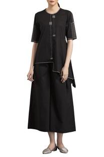 Black warli printed blouse