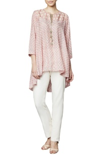 Blush modal blouse