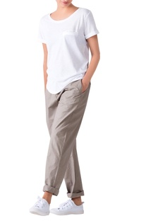 Grey loose fit poplin trousers