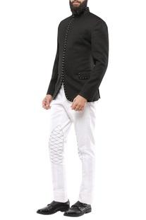Black dobby jodhpuri jacket