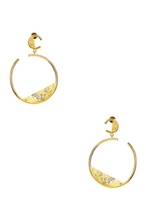 Gold plated circular hoop earrings