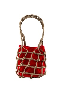 Beige open style knot potli