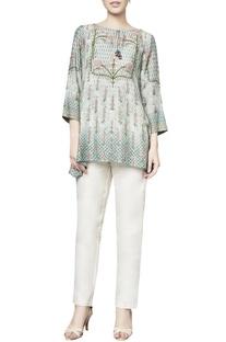 Sage green muslin naiti blouse