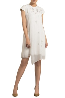Ivory layered short dress