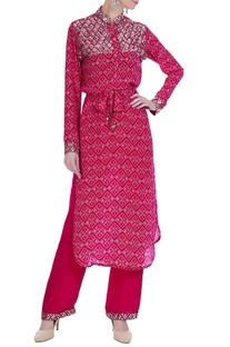 Geometric sequin kurta set
