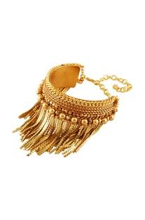 Gold plated tassel detail bracelet