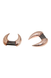 Rose gold brass handcrafted cufflinks