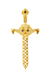 Gold brass embellished brooch