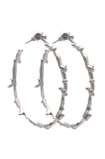 Silver brass wired hoops