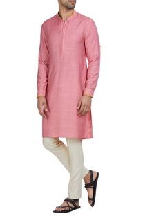 Cotton silk full sleeves kurta & pants