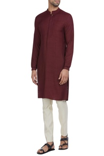 Cotton silk classic kurta & pants