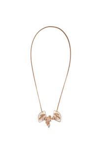 Long chain sash pendant necklace