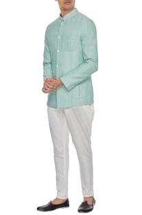 Light blue khadi cotton bandhgala