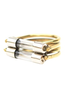 Silver lacquer brass fuse ring