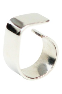Silver  plated brass slab ring