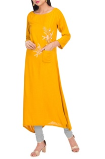 Flared Embroidered Kurta Set