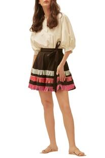Black scuba tasseled skirt
